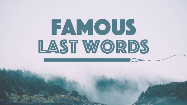 Famous Last Words | New Song Fellowship